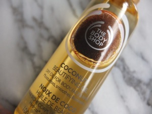 The Body Shop Coconut Beautifying Oil (dry oil for body, face, and hair)
